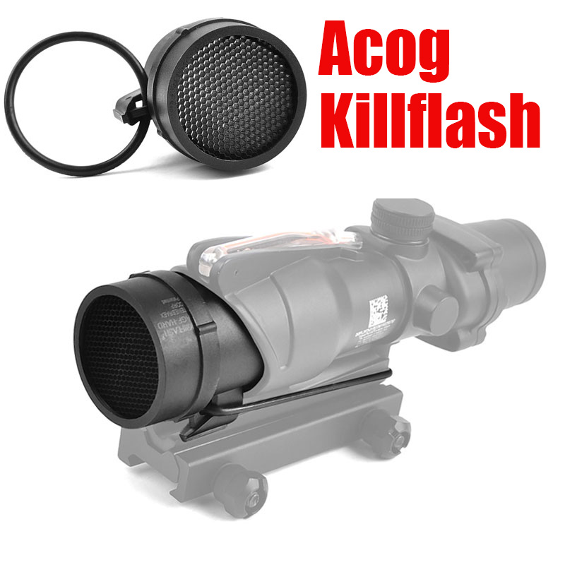 Tactical ACOG Killflash 4X32 ACOG 1x32 Scope Protector Cover Cap Anti-Reflection Device reflection