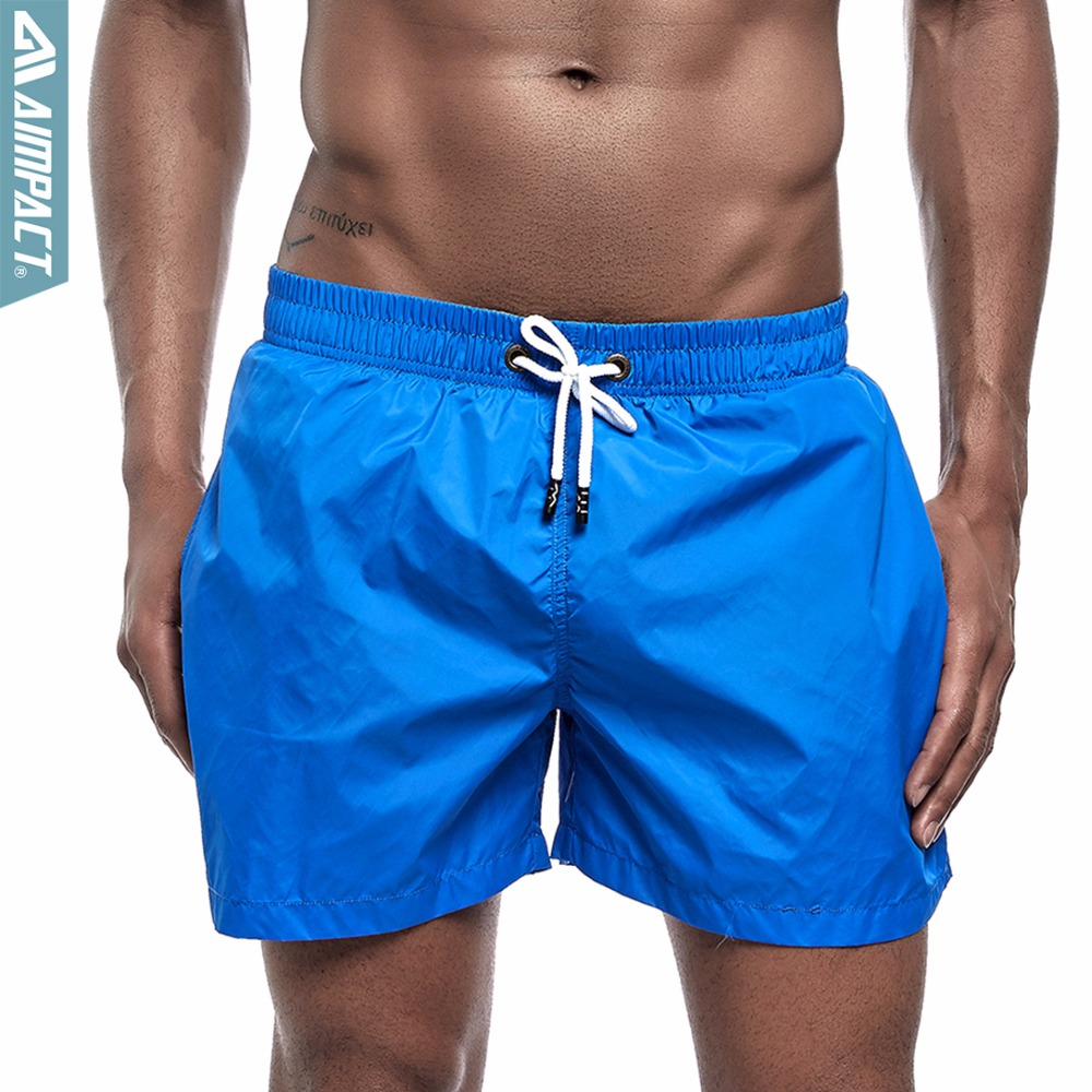 AIMPACT Brand Mens Fast Dry   Board     Shorts   Fashion Solid Beach   Shorts   Casual Active Swim Trunks Male Gym Bodybuilding   Shorts   E303