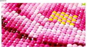 Image 5 - QIANZEHUI,DIY 5Dหงส์สีม่วงดอกไม้เย็บปักถักร้อยเพชรรอบเพชรRhinestoneภาพวาดเพชรCross Stitch,เย็บปักถักร้อย