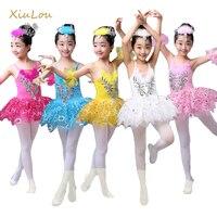 Tutu Ballet Dress For Children Elasticity Lace Yarn Children Ballet Tutu Dress Swan Lake Multicolor Ballet