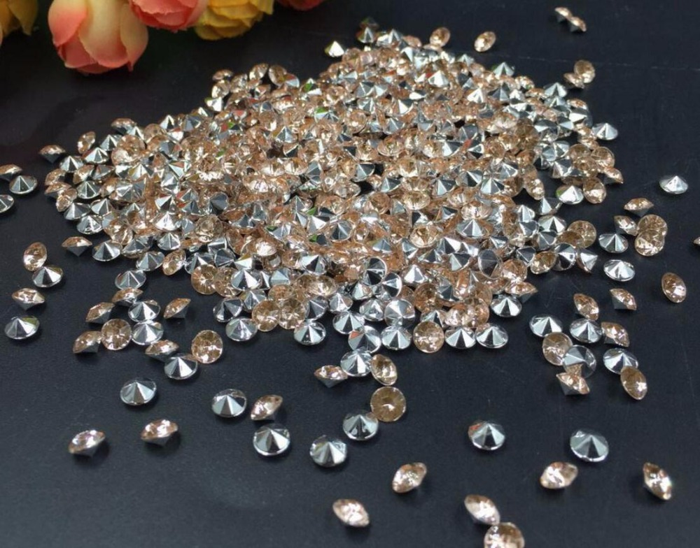 10000pcs 4mm Champagne Acrylic Rhinestone Confetti Wedding Party Favor Table Scatters Crystal Decoration