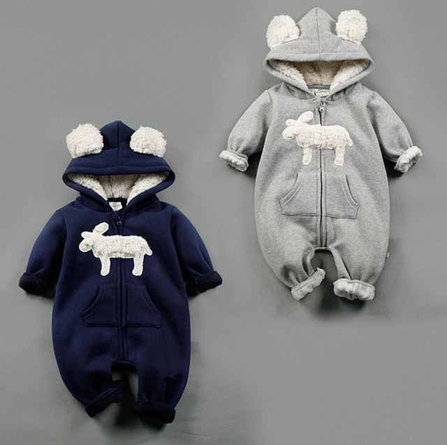 2017 NEW Baby boy Girls Rompers Baby Boy suits Infant  spring winter jumpsuit bebes Thickene One-pieces Clothes COTTON Overalls
