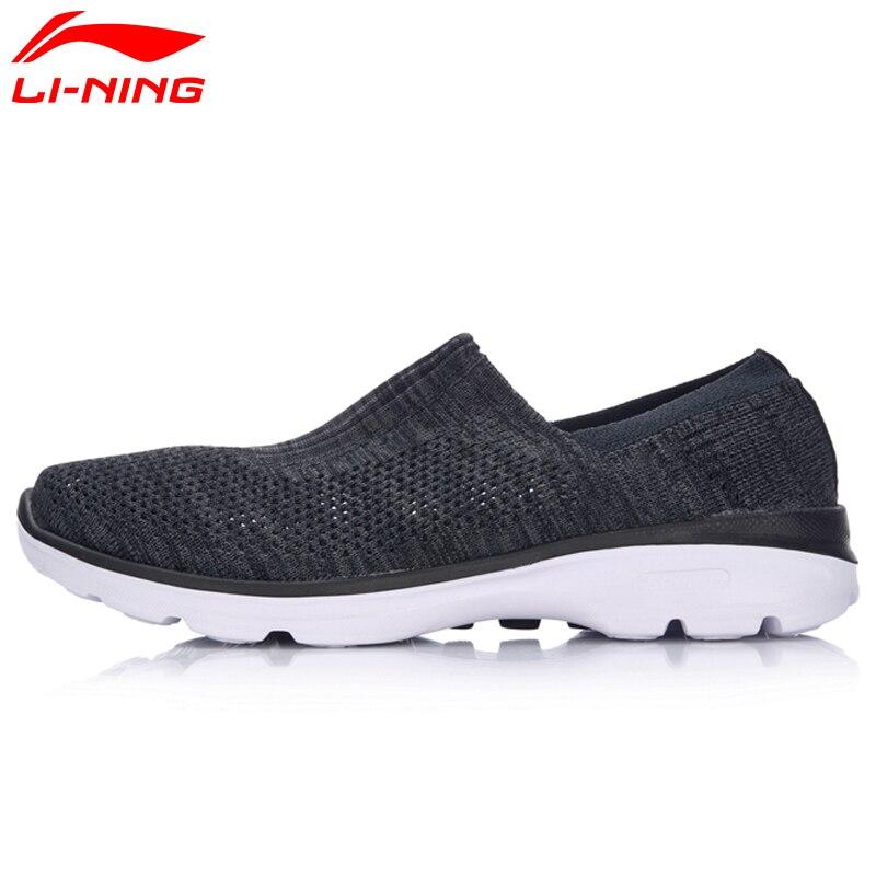 Li Ning Men's Easy Walker Walking Shoes Textile Breathable Sneakers Light Cushion LiNing Sport Shoes AGCM101 YXB061
