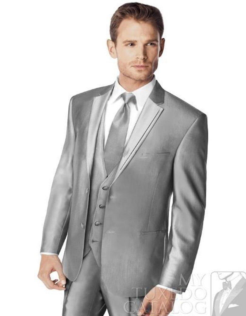 Online Get Cheap Men Groom Gray Color Suit -Aliexpress.com ...