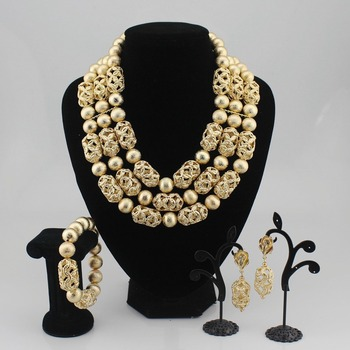 High Quality Tribal Nigerian African Stones Beads Decor For Women Wedding Party Bridal Neck Decoration OT979