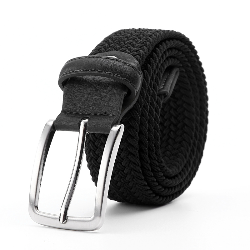 Elastic Belt For Men And For Women Waist Belt Canvas Stretch Braided Woven