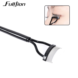 Image 2 - Fulljion Eyelash Comb Lash Separator Lift Curl Metal Brush Mascara Guide Applicator Eyebrow Brush Curler Beauty Eye Makeup Tools