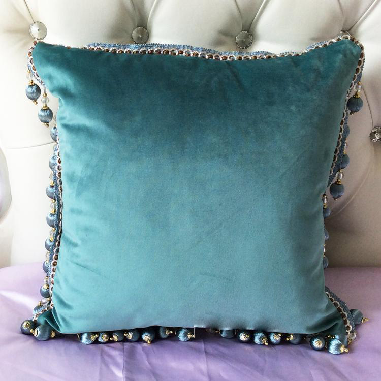 Beau #1145 New Velvet Luxury Sofa Cushion Cover Round Tassel Around Bed Home Car  Chair Ornament Wholesale In Cushion Cover From Home U0026 Garden On  Aliexpress.com ...