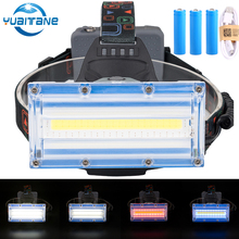 20000LM COB LED Headlamp Hunting light Fishing Headlight Flashlight Torch Camping lantern +3x 18650 Battery +USB Cable