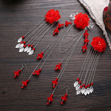 vintage hairpin set chinese ancient dynasty princess hair accessories flower cosplay
