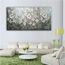 Knife painting  Oil Painting Home decoration high quality canvas Flower  pictures NO Framework DM1609204