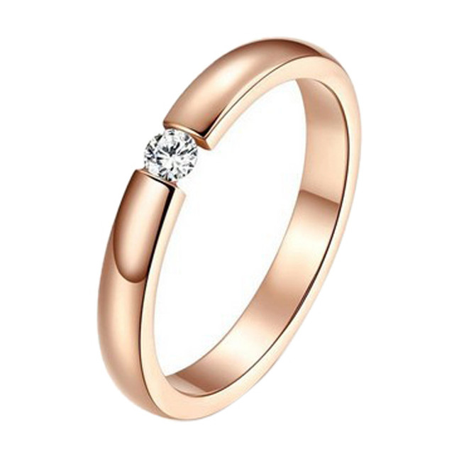 2017Hot Fashion Dimonds Rings Beautiful Special Stylish Simplicity Single Rose G