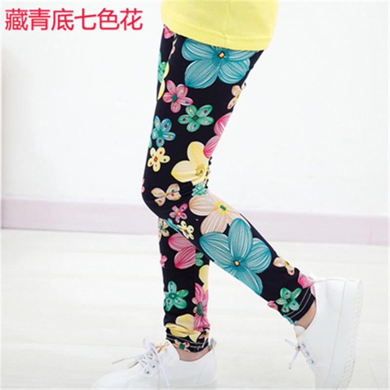 New Style Spring Autumn Children Leggings Flower Butterfly girls pants kids legging 12