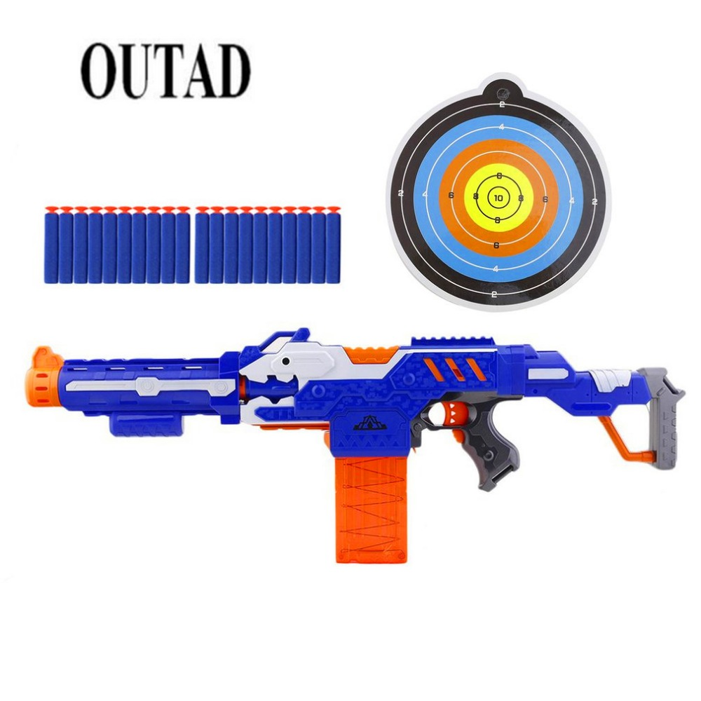 OUTAD Airsoft Electric Shooting Submachine soft Bullet Toy Pistol Sniper Rifle Funny Out ...