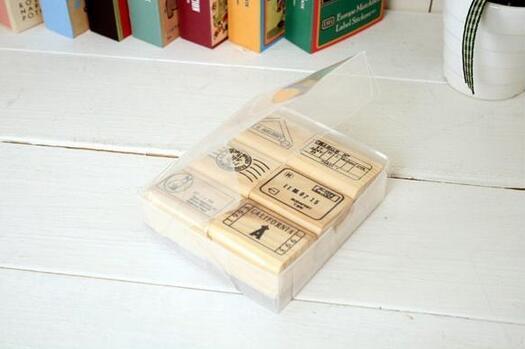 Mooie Houten Stempels.6 Stks Set Top Kwaliteit Mooie Ontwerp Vintage Reizen Houten Rubber Stempel Scrapbooking Craft Dagboek Postcard Diy Set Decor In 6 Stks Set Top