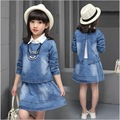 teenage girls clothing set autumn spring clothes 2 pieces coat +dress suit 11 12 years old