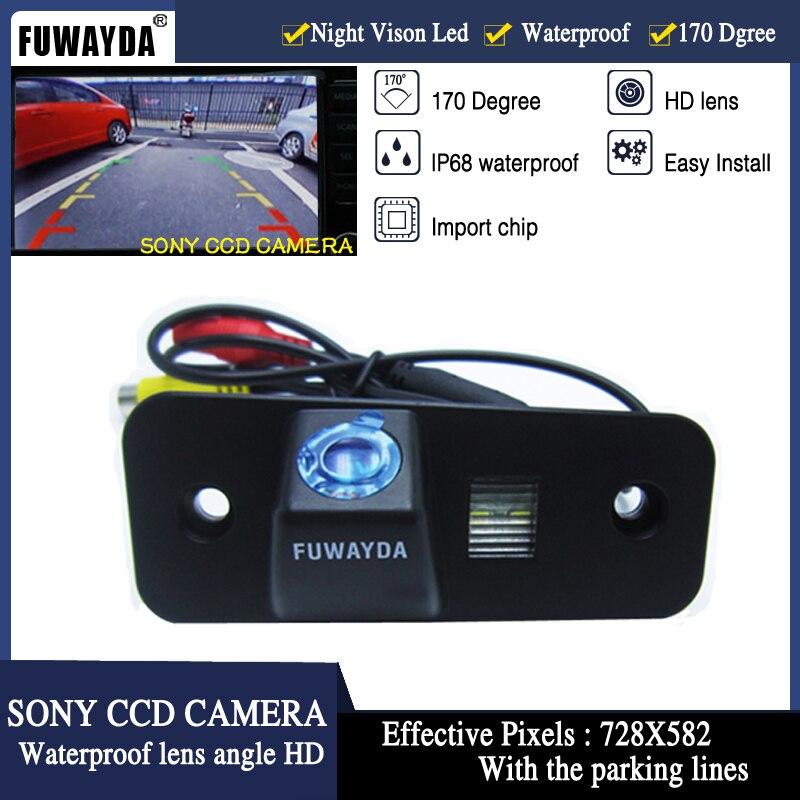 FUWAYDA FOR SONY CCD Chip Car Rear View Reverse Backup Safety Parking Safety CAMERA for Hyundai SANTA FE   Azera   Santafe HD