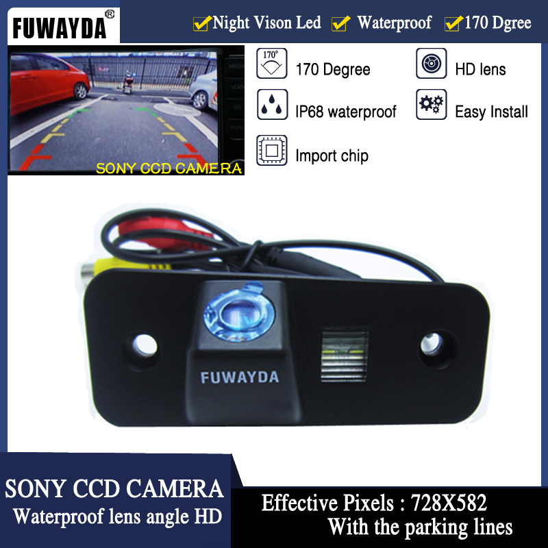 FUWAYDA SONY CCD Chip Car Rear View Reverse Backup Safety Parking Safety CAMERA For Hyundai SANTA FE / Azera / Santafe HD
