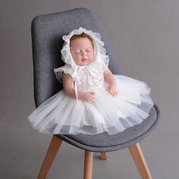 Baptism Baby Girl Clothing 1 Year Birthday Party Toddler Christening Gown