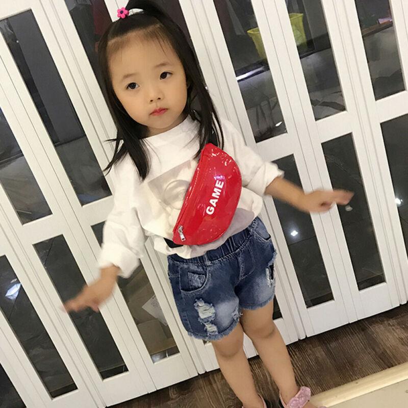 2019 New Brand Kids Girls PU Leather Cross Body Bags Crossbody Shoulder Messenger Travel Purse Sport Holiday Pouch Belt Wallet