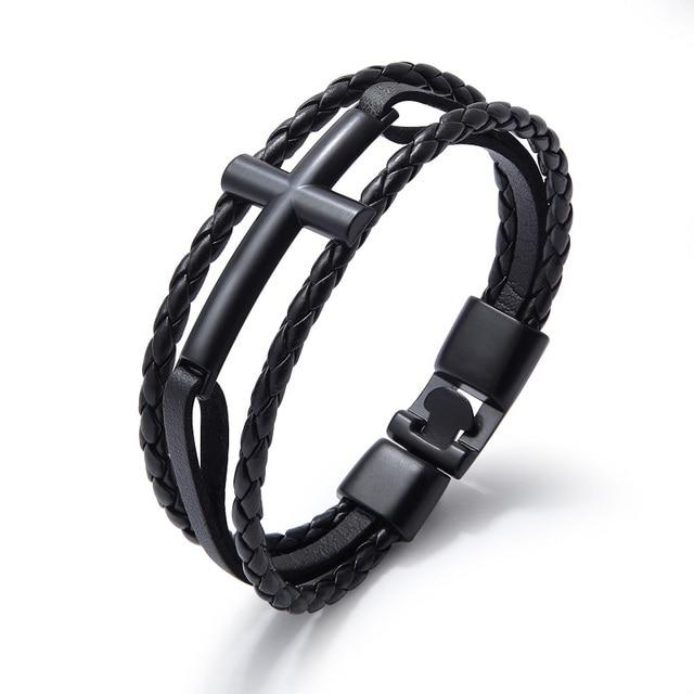 Фото женские и мужские браслеты из нержавеющей стали черного белого