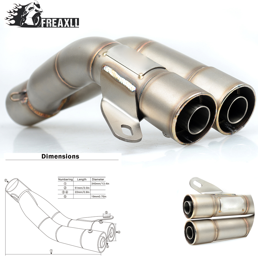 36-51MM Universal Motorcycle Double Exhaust Muffler Pipe escape moto For YAMAHA Suzuki GSX R 600 750 1000 SV 650 S 1000 TL 1000S цена