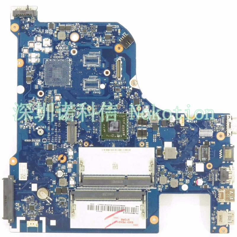 NOKOTION ORIGINAL laptop motherboard for Lenovo G70-35 CPU on board CG70A NM-A671 Mainboard WORKS msi original zh77a g43 motherboard ddr3 lga 1155 for i3 i5 i7 cpu 32gb usb3 0 sata3 h77 motherboard