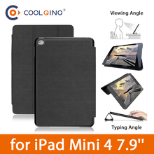 For iPad Mini Retina 100% Original BGR Brand Sleep/Wake Up Fold Stand Leather Case Smart Cover For iPad Mini 1 2 3 Retina  аксессуар чехол momax flip diary для ipad mini retina black