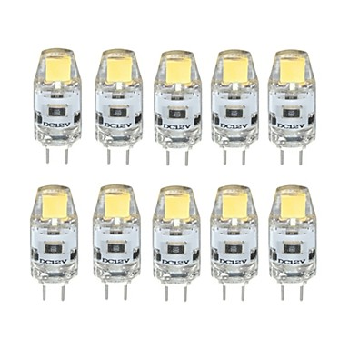 10pcs New Style COB <font><b>LED</b></font> G4 <font><b>LED</b></font> 12V Bulb 1W 80LM 2700K~6500K <font><b>LED</b></font> Bi-pin Lights image