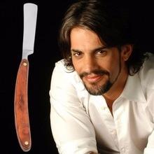 1pc Straight Edge Razor Steel Folding Shaving Wood Handle Knife Barber Beard Hot Selling