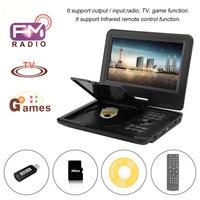 9.8 Inch TFT LCD 270 Degree Swivel Screen Portable DVD Player Digital Multimedia Player EVD With TV Tuner EU Plug