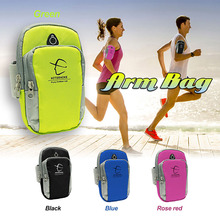 1 piece 5.5 inch Running Jogging GYM Phone Bag Sports Wrist Bag Arm Bag ,Outdoor Waterproof Nylon Hand Bag For Camping Hiking(China)