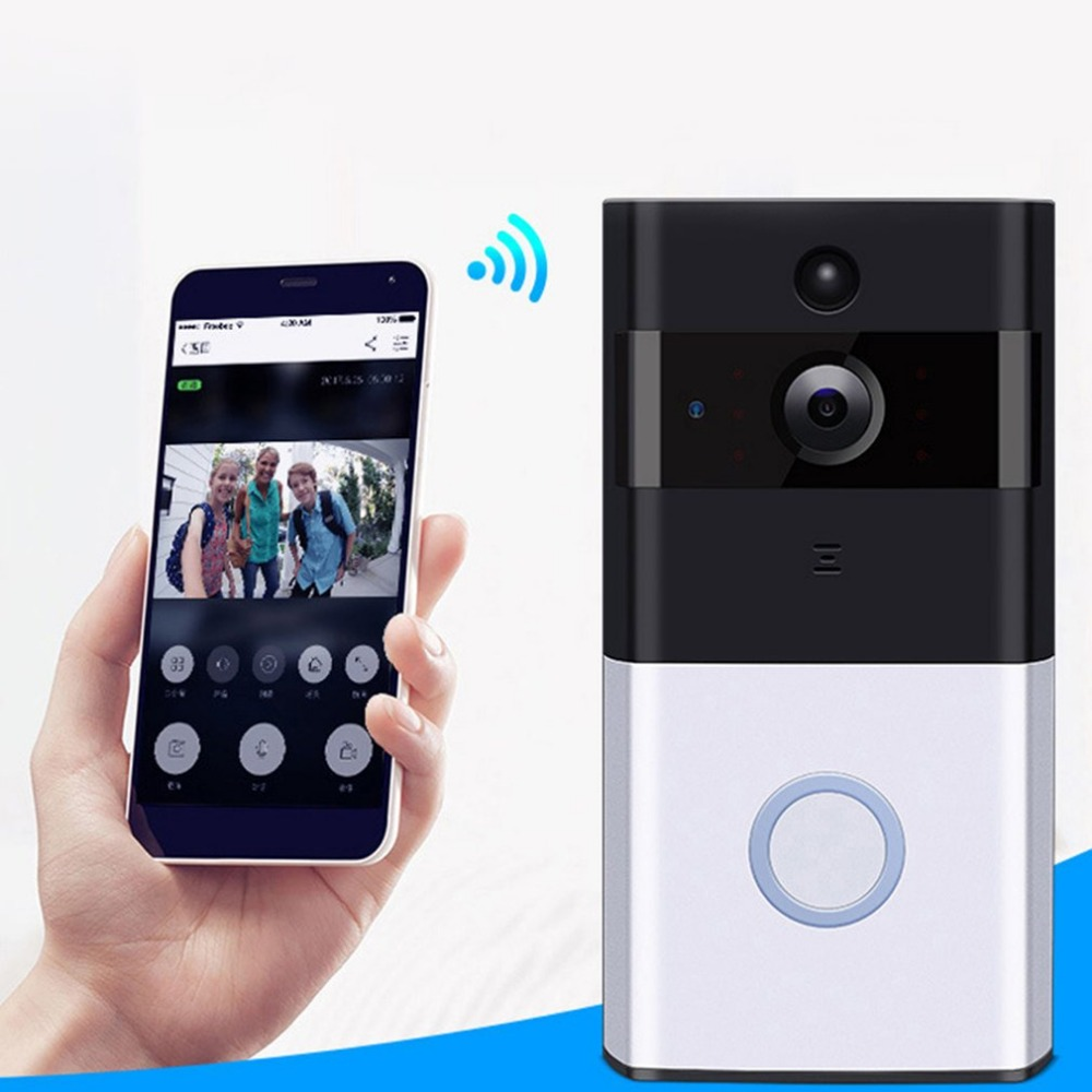 M1 Professional Home Security Wireless IP Doorbell 720P Infrared Night Vision Camera Motion Detection Alarm Doorphone Doorbell ...
