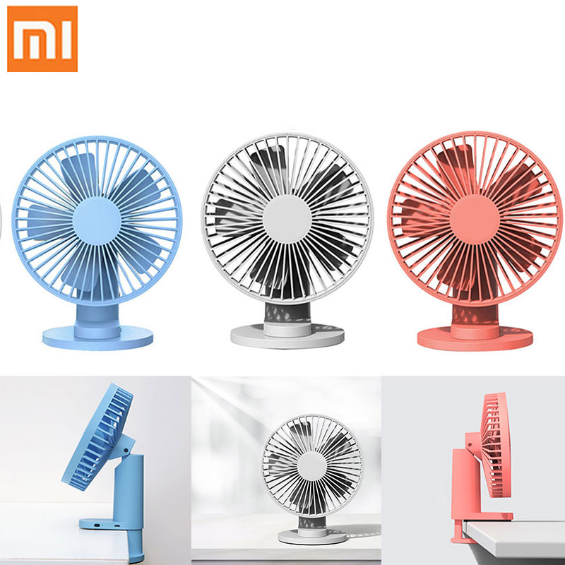 Color : Gray Air Cooler Summer Clip Mini Fan Portable Handheld Windshield Fan 360 Degree Front Mesh Removable Fan for Home Office