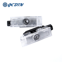 QCDIN for Alfa Romeo Giulietta Car LED Logo projector Light Welcome 159 Giulia Mito Stelvio Brera