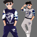 4 6 8 10 12 years boys hip hop clothing spring models   kids sport suit long - sleeved cotton sweater T - shirt sportswear