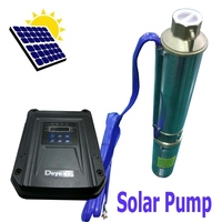Deep Well Water Pump Submersible Stainless Steel DC 48V for Solar Panels/Battery 78M Head 5000L 22GPM Flow 6000RPM
