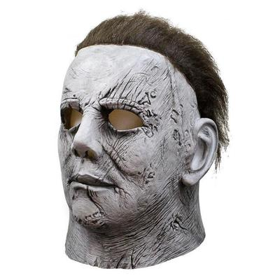 Michael Myers Mask Halloween Horror Movie Cosplay Adult Latex Full Face Helmet Halloween Party Scary Props in Party Masks from Home Garden