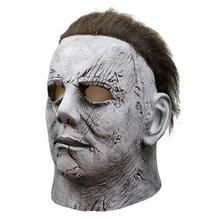 Michael Myers Mask Halloween Horror Movie Cosplay Adult Latex Full Face Helmet Halloween Party Scary Props halloween props deadpool mask eco friendly resin cosplay party mask full face 11 6 7 inch
