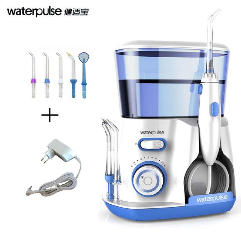 Waterpulse V300 зубные Flosser воды нить Ирригатор для полости рта с 5 Jet советы Стоматологическая гигиена полости рта 10 давление зубы чище,