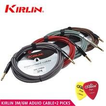 Kirlin alta calidad anti interferencias 3 m/6 m cable de la guitarra eléctrica bass line cable de instrumento línea línea de cobre