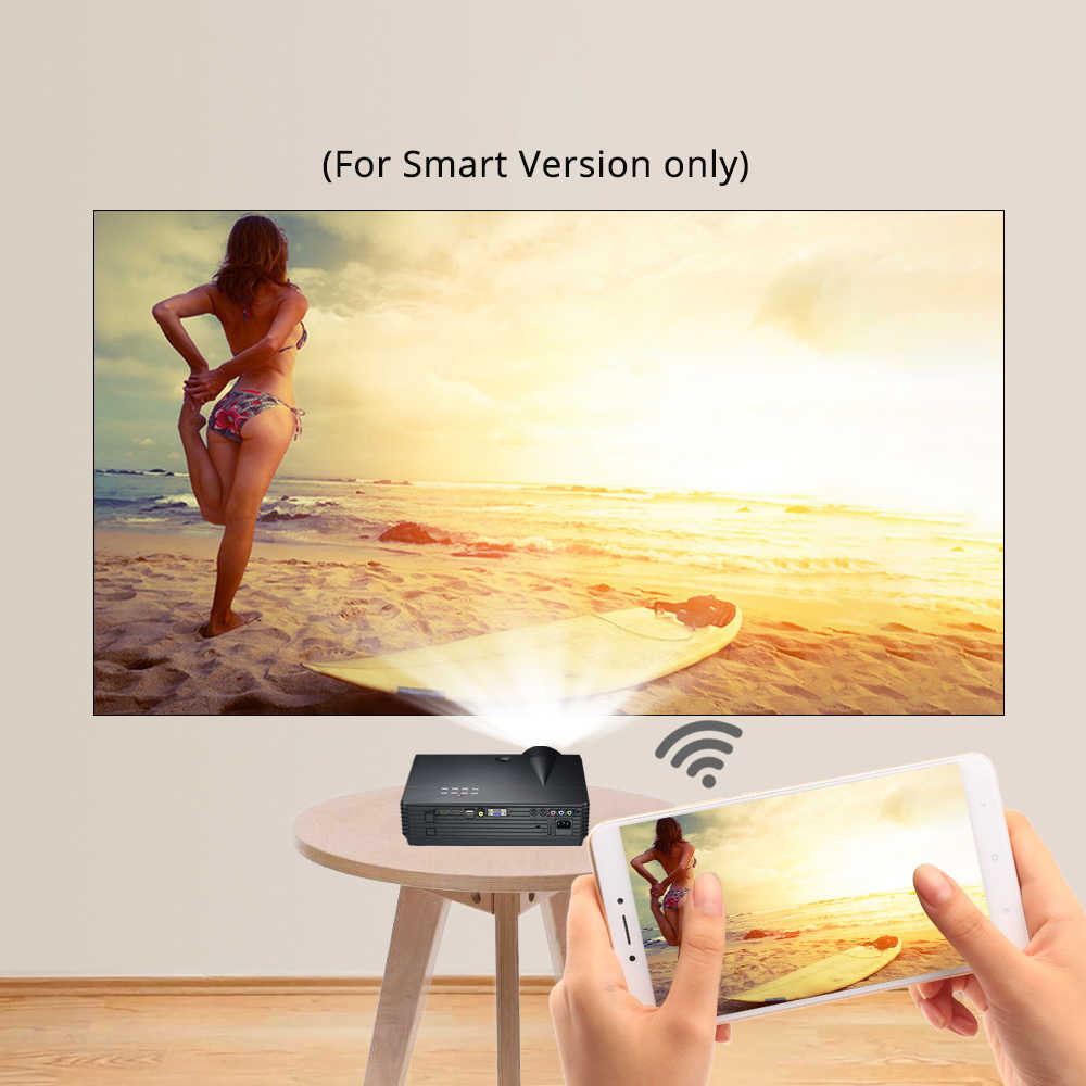 Byintek LED Proyektor BT96plus Smart Android WIFI Ini dengan Harga Murah Projector, LED Video Beamer untuk Full HD 3D 4K 300 Inci Home Theater