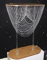 Acrylic flower vase crystal wedding flower vase aisle road lead cake holder party table centerpieces decor wedding venue props