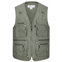 Summer Casual Large Size 5XL Mens Blue Vests Male Sleeveless Zipper Waistcoats Comfortable Plus XL-5XL