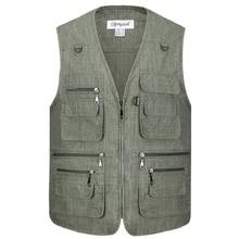 Summer Casual Large Size 5XL Mens Blue Vests Male Sleeveless Zipper Waistcoats Comfortable Plus XL-5XL
