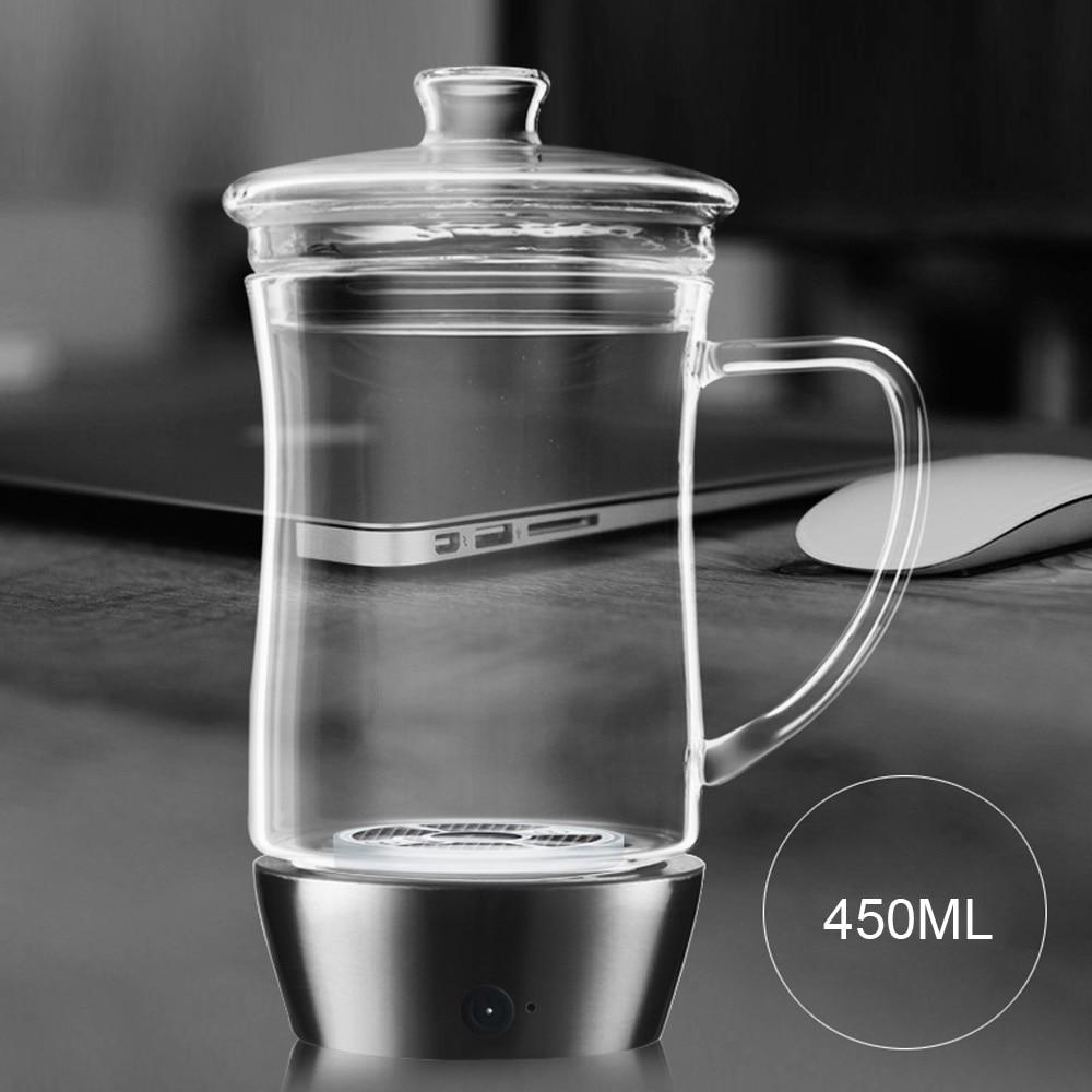 XIAOMAOTU 450ML 3rd Generation Rechargeable Smart Touch Office Hydrogen Water Bottle Ionizer Hydrogen Generator Glass Bottle