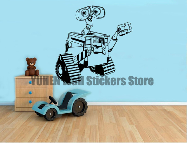 WALL-E Wall Decal Cartoons Vinyl Sticker for Wall Art Decor Home Interior Kids Room  sc 1 st  AliExpress.com & WALL E Wall Decal Cartoons Vinyl Sticker for Wall Art Decor Home ...