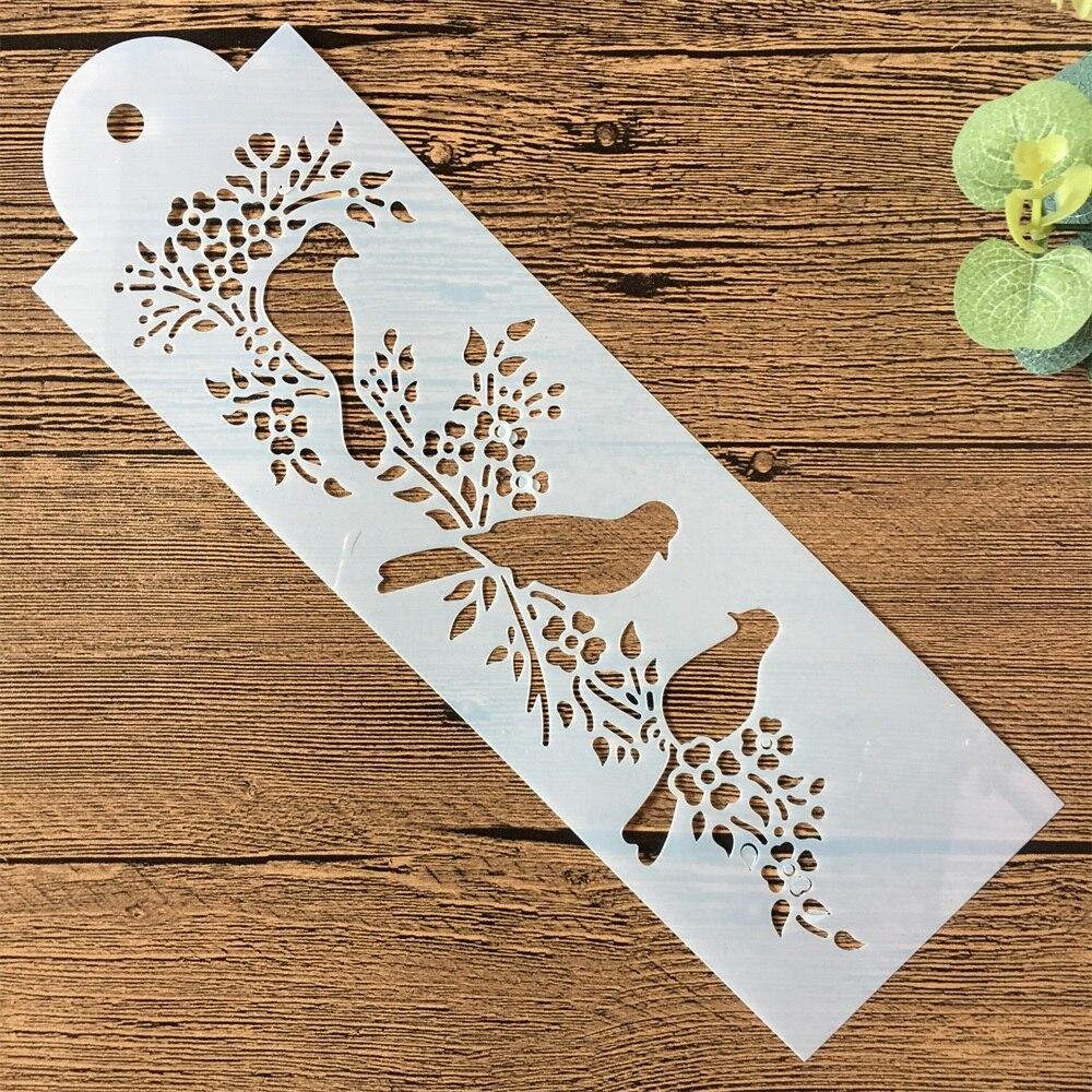 New 33cm Magpie Bird DIY Layering Stencils Painting Scrapbook Coloring Embossing Album Decorative Paper Card Template