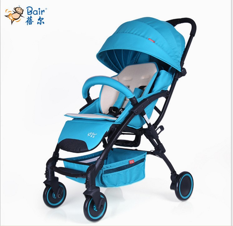 Baby stroller can sit and lie two-use trolley ultra-light portable folding umbrella carts can be on the plane baby strollers baby stroller 5kg ultra light portable on the plane can sit lie simple mini folding baby pocket umbrella summer