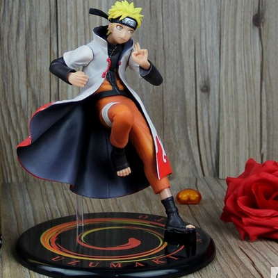 New Hot Sales Anime Yondaime Naruto Uzumaki Naruto Fairy Mode Ver PVC Action Figure Collection Toy Gift freeshipping juguetes 2pcs set lovers mask anti fog and haze anti pm2 5 breathable breathing valve couples masks dust masks pink blue 2pcs gm5217